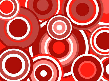 Red Funky circles Vector
