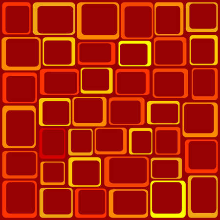 aligned: Funky Squares Vector Illustration -  Illustration