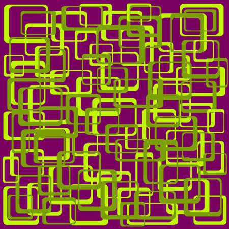 Funky Squares Vector Illustration -  Illustration