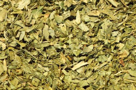 Macro of Dried Parsley leaves