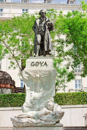 civilisations: The historical monument of Spain artist Goya in Madrid ,Spain Editorial
