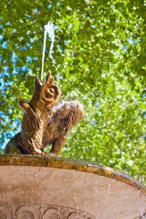 civilisations: Fontain in the park near the museum Prado,Madrid,Spain Editorial