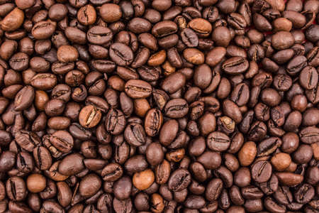 reiteration: Full frame of coffee beans. Nice background
