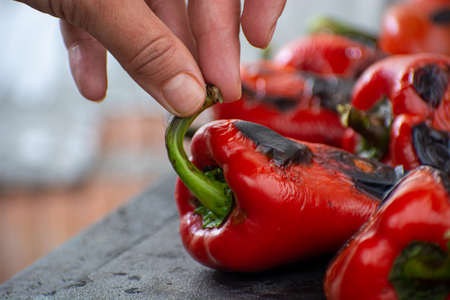 Fresh Ajvar made of tomatoes and paprika buy the old recepies