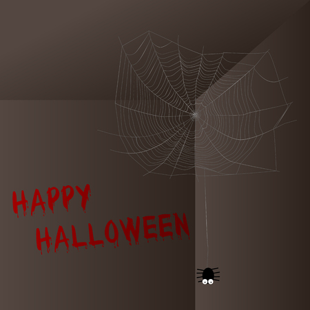 cobwebs: Happy Halloween with spider and cobwebs
