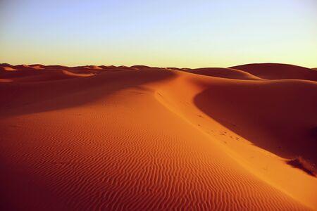 desierto del sahara: seco del desierto del Sahara cerca de Merzouga en Marruecos