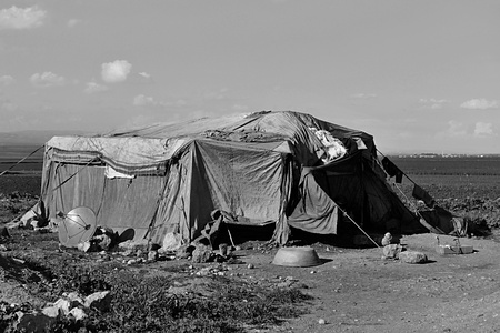 syrian civil war: portrait of refugees living homeless in Turkey. 1.4.2015 Reyhanli, Turkey Editorial