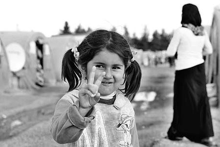 peuple syrien dans le camp de réfugiés de Suruc. Ces personnes sont des réfugiés de Kobane et ont échappé à cause de l'attaque islamique de l'Etat. 03/04/2015, Suruc, Turquie
