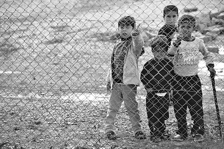 escaped: Syrian people in refugee camp in Suruc. These people are refugees from Kobane and escaped because of Islamic state attack. 30.3.2015, Suruc, Turkey