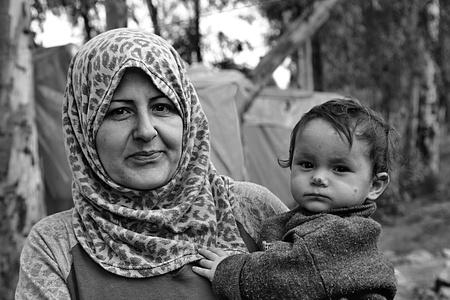 portrait of refugees living homeless in Turkey. 2.4.2015 Reyhanli, Turkey