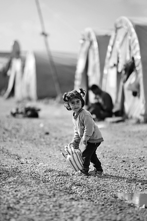 escaped: Syrian people in refugee camp in Suruc. These people are refugees from Kobane and escaped because of Islamic state attack. 3.4.2015, Suruc, Turkey