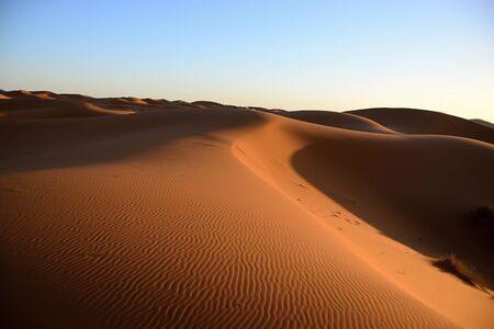 dry Sahara desert near Merzouga in Morocco