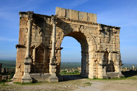 volubilis: Volubilis - ruins of historical city from age of roman empire