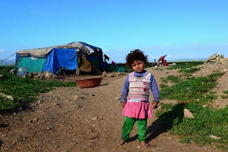 portrait of refugees living homeless in Turkey. 1.4.2015 Reyhanli, Turkey Editorial