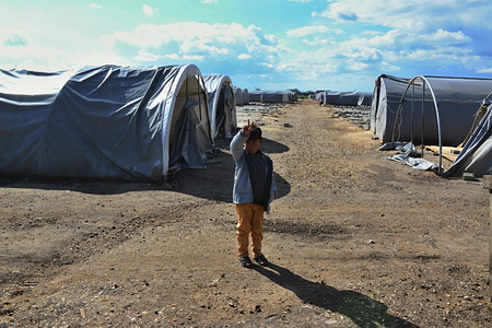 syrian war: Syrian people in refugee camp in Suruc. These people are refugees from Kobane and escaped because of Islamic state attack. 30.3.2015, Suruc, Turkey