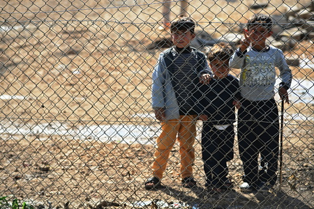 syrian civil war: Syrian people in refugee camp in Suruc. These people are refugees from Kobane and escaped because of Islamic state attack. 30.3.2015, Suruc, Turkey