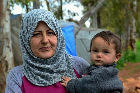Portrait des réfugiés vivant sans-abri en Turquie. 02/04/2015 Reyhanli, Turquie Banque d'images - 53737699