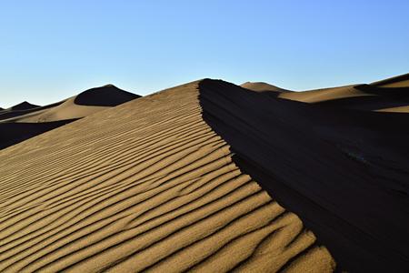 sand Sahara desert in Morocco near Mhamid
