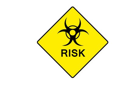 h1n1: yellow symbol for BIOHAZARD with possible text