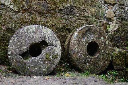 millstone: nice old mill-stone in Jetrichovice in Czech republic