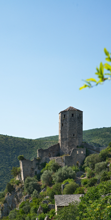 hercegovina: nice Panoramic view of Pocitelj, medieval city in Bosnia and Hercegovina