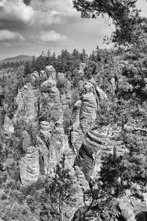stoney point: sandstone rocks in czech republic in prachovske skaly Stock Photo