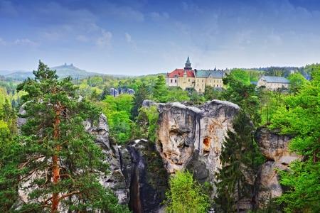 castles hruba skala and trosky in czech republic