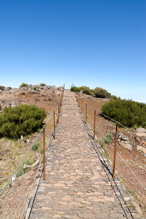 way to top of pico ruivo, Madeira island
