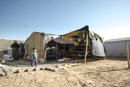 2017 年 9 月 6 日、Akcakale、トルコ。Akcakale の非公式な難民キャンプでシリアの人々。これらの人々 はイドリブ、ラッカ、アレッポからの難民で、シリ