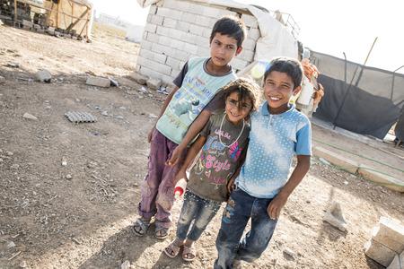 6 september 2017, Akcakale, Turkije. Syrische mensen in het officiële vluchtelingenkamp in Akcakale. Deze mensen zijn vluchtelingen uit Idlib, Rakka en Aleppo en zijn ontsnapt vanwege de Syrische burgeroorlog.