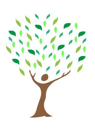 Illustration of family tree design isolated on white background.