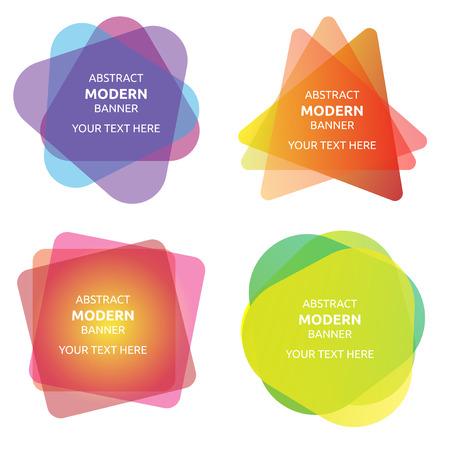 couleur belle collection de bannières moderne drôle Vecteurs