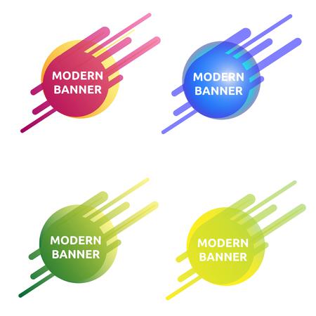 colore simpatico divertente Collezione di banner moderni