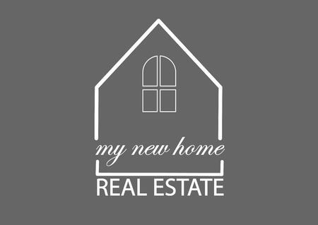 easy basic logo of real estate company Stock Illustratie