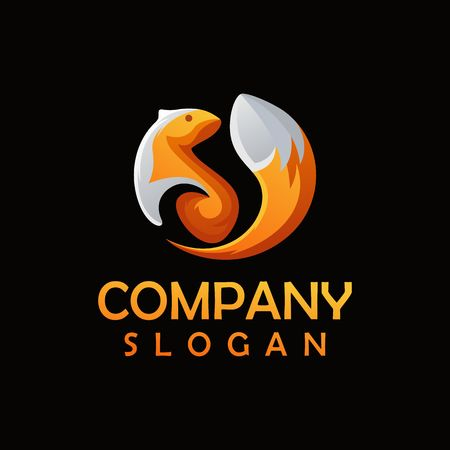 squirrel logo design 일러스트