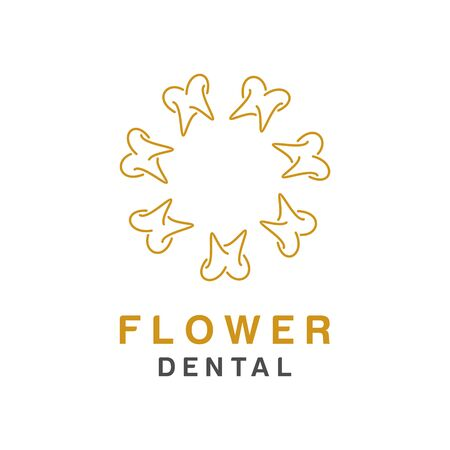Dental design, icon or symbol. Simple minimalist style for medical brand
