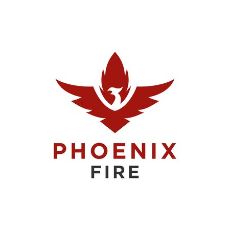 Eagle logo or hawk, bird, phoenix symbol and icon luxury style for any business