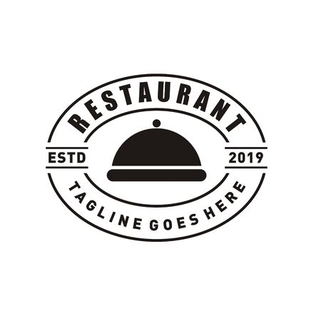 Restaurant logo design or chef icon for food and drink brand company flat style