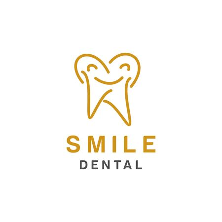 Dental logo design, icon or symbol. Simple minimalist style for medical brand