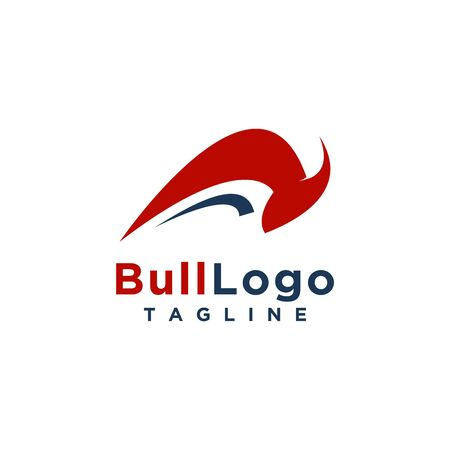 Bull logo design simple minimalist style for business or company brand 스톡 콘텐츠 - 133515160
