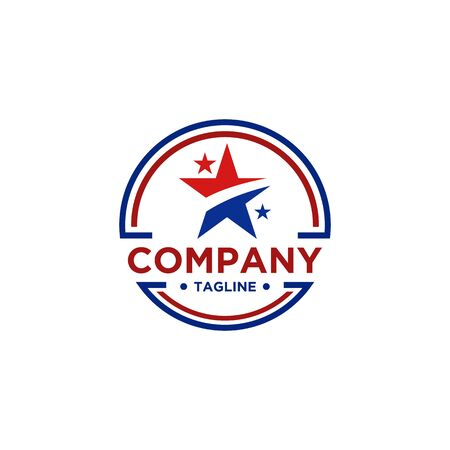 Star logo design for business or america company
