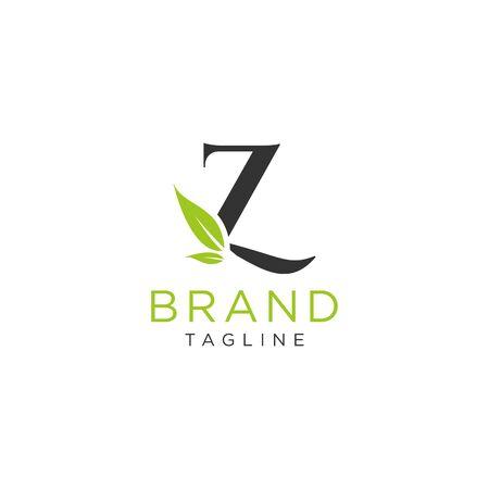 Letter logo nature design or initials alphabet. Simple minimalist style