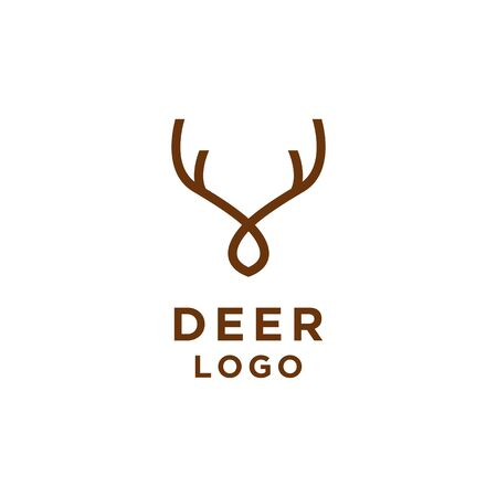 Deer logo minimalist line style Logó