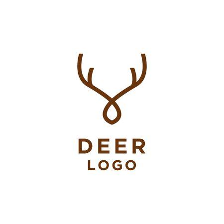Deer Logo minimalistischer Linienstil Logo