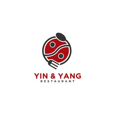 Yin and Yang Restaurant logo or Illustration for business