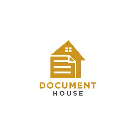 Document house logo or icon for business and finance 일러스트