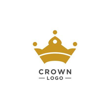 Crown logo design vector or Symbol of Kingdom flat style 일러스트