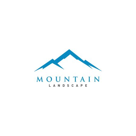Mountain or hill or Peak icon design vector