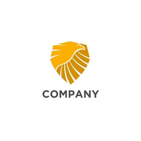 Eagle shield logo design for security business