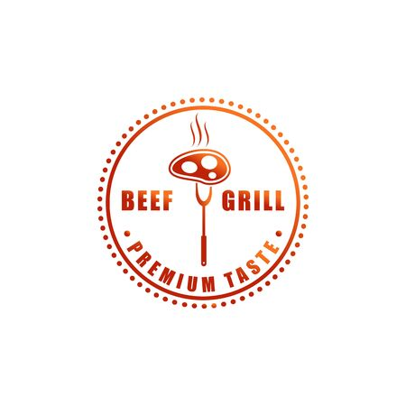 Food and drink Logo or Restaurant symbol for Cafe and any business with vintage, retro style
